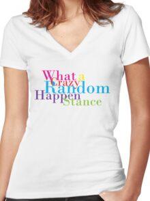 Crazy Random Happenstance Women's Fitted V-Neck T-Shirt