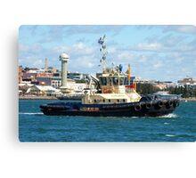 Newcastle Harbour - Switzer Hamilton Tug Boat Canvas Print