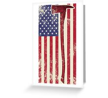 American Fire Service (white) Greeting Card
