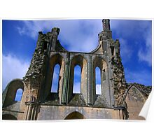 Empty Windows - Byland Abbey Poster