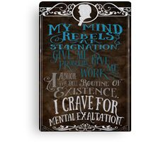 My Mind Rebels V2 Canvas Print
