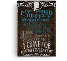 My Mind Rebels V2 Canvas Print