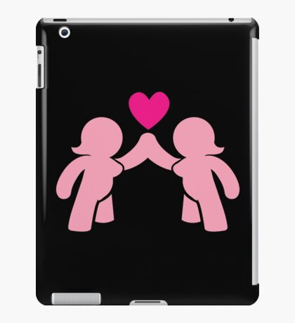 Two chubby ladies with a love heart iPad Case/Skin