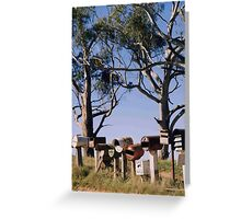 My letterbox in rural Australia Greeting Card