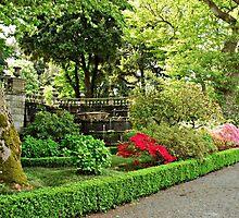 Springtime at Villa Lante-Italy by Deborah Downes