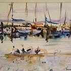 Hastings Harbour by Jean Cowan