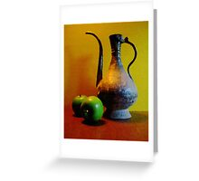 Indian Metal with Green Apples Greeting Card