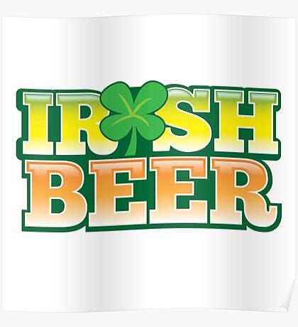 IRISH BEER in green Poster