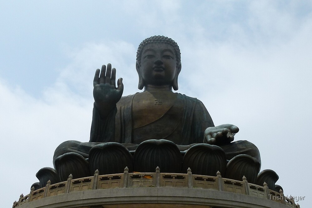 Big Buddha, Lantau Island. by Trish Meyer