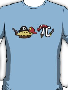 Pi and Pie Pirates pattern T-Shirt