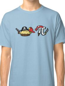 Pi and Pie Pirates pattern Classic T-Shirt