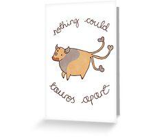 Tauros Valentine Greeting Card