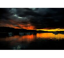 Darkness Falls  - Newport - The HDR Series Photographic Print