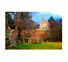 Church Service - Hill End - The HDR Series Art Print