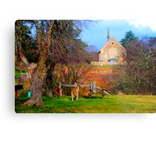 Church Service - Hill End - The HDR Series Metal Print