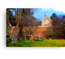 Church Service - Hill End - The HDR Series Canvas Print