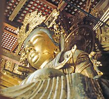 LARGE GOLD STATUE IN KYOTO JAPAN by pjwuebker
