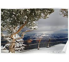 Snow in the Grand Canyon Poster