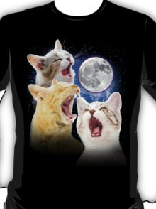 Exclusive Three Cat Moon Design! T-Shirt