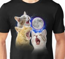 Exclusive Three Cat Moon Design! Unisex T-Shirt
