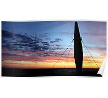 Danish sunset Poster