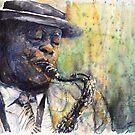 Jazz Saxophonist 1 by Yuriy Shevchuk