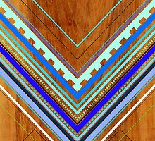Aztec Arbutus Blue by House of  Jennifer