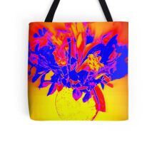 Flower - Yellow, purple and red Tote Bag