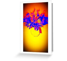 Flower - Yellow, purple and red Greeting Card