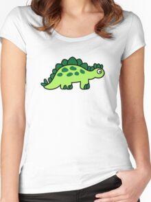 Comic dinosaur Women's Fitted Scoop T-Shirt