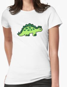 Comic dinosaur Womens Fitted T-Shirt