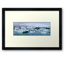 Jokulsarlon Morning Rainbow - Iceland Framed Print