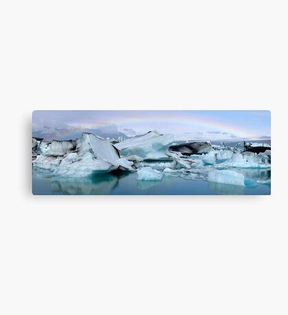 Jokulsarlon Morning Rainbow - Iceland Canvas Print