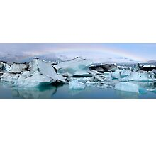 Jokulsarlon Morning Rainbow - Iceland Photographic Print
