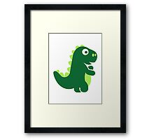 Comic T-Rex Framed Print
