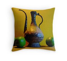 Green Apples with Indian Pitcher Throw Pillow