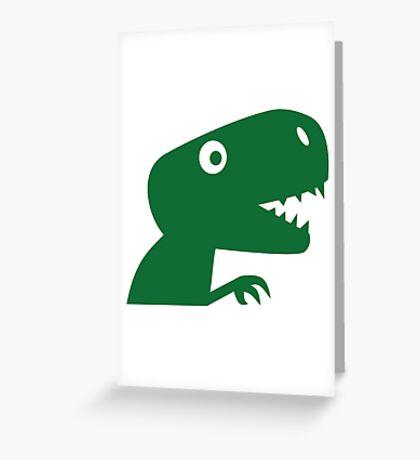 Comic dinosaur Greeting Card