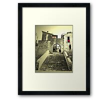 Gate on the past Framed Print
