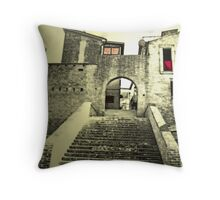 Gate on the past Throw Pillow