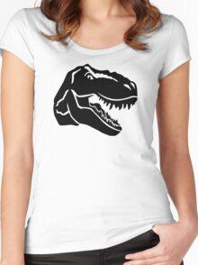 T-Rex dinosaur Women's Fitted Scoop T-Shirt