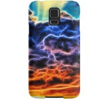 Funky Glowing Electrified Rainbow Clouds Abstract Samsung Galaxy Case/Skin