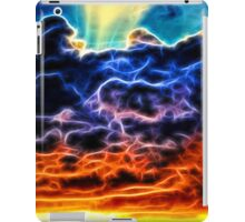 Funky Glowing Electrified Rainbow Clouds Abstract iPad Case/Skin