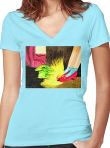 OZ THE RUBY SLIPPERS Women's Fitted V-Neck T-Shirt