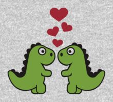 Dinosaur red hearts love Kids Clothes