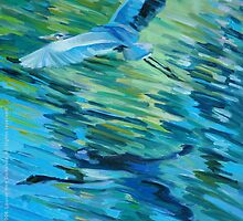 Great Blue Heron by laillustrator