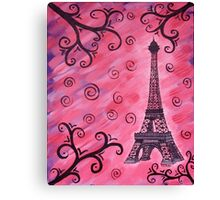 Eiffel Tower in Pink Canvas Print