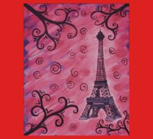 Eiffel Tower in Pink Kids Clothes
