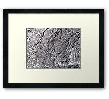 ice maze Framed Print