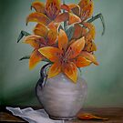 Yellow Tigerlilies by Avril Brand