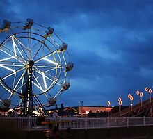 Ferris Wheel on Boardwalk by Lisa Williams